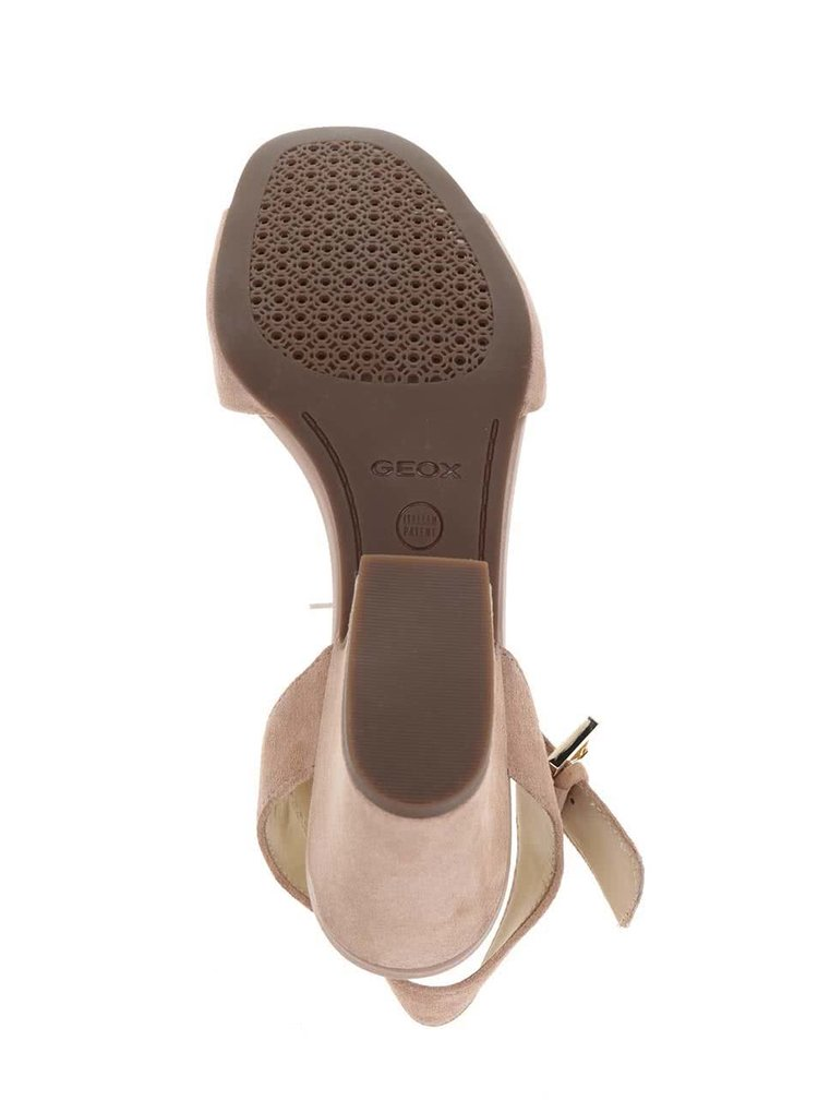 Sandale maro deschis Geox Marilyse din piele intoarsa