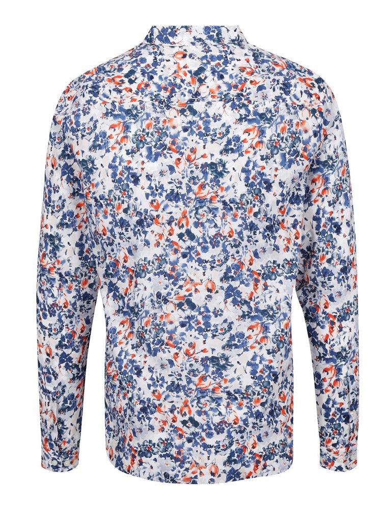 Camasa alb&albastru Jack & Jones Day cu imprimeu floral