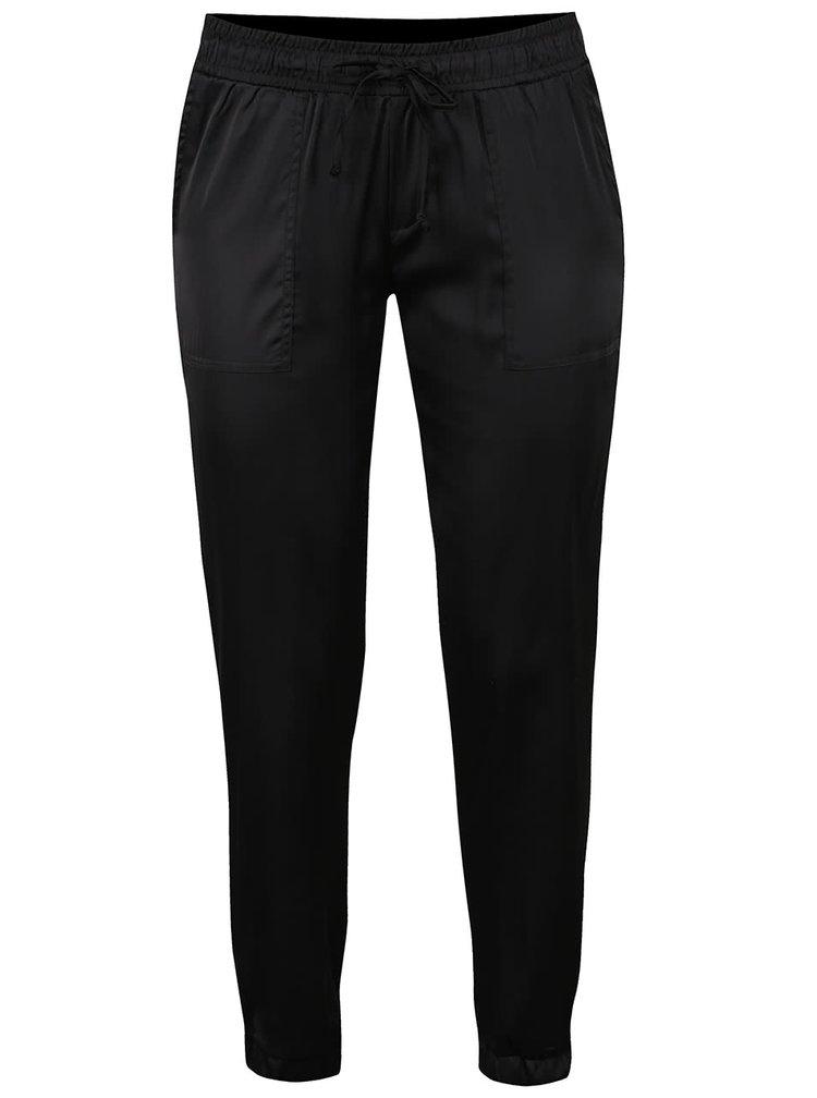 Pantaloni negri TALLY WEIJL cu talie elastică