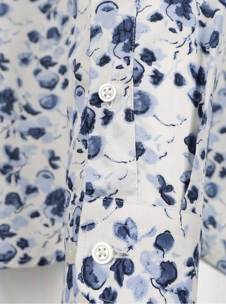 Cămașă crem&albastru Jack & Jones Day cu imprimeu