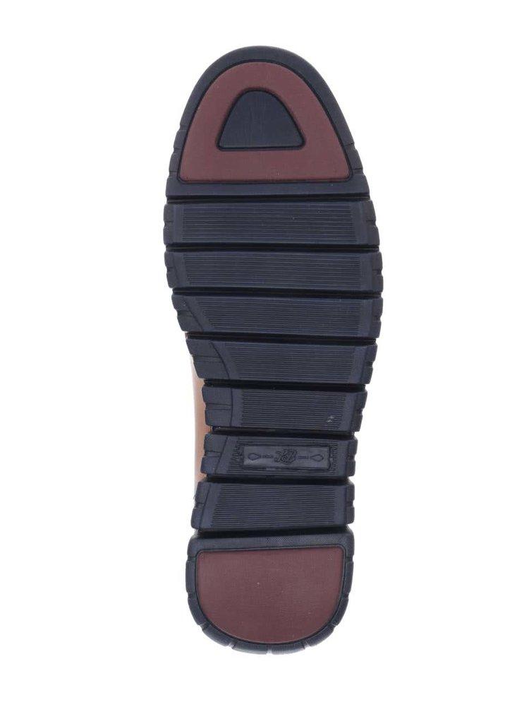 Světle hnědé kožené kotníkové boty London Brogues Gatz Hi