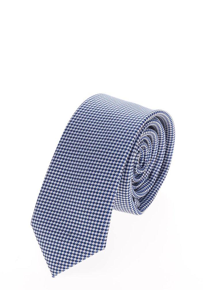 Světle modrá vzorovaná kravata Selected Homme Neal