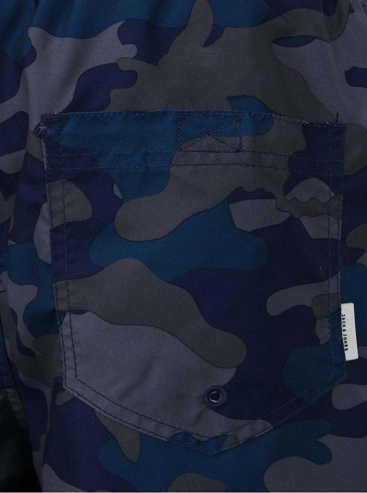 Modré maskáčové plavky Jack & Jones Sunset