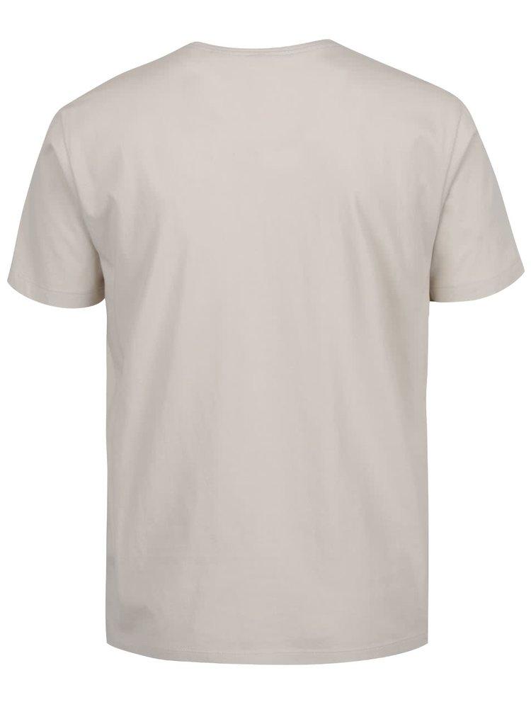 Tricou crem s.Oliver din bumbac cu print