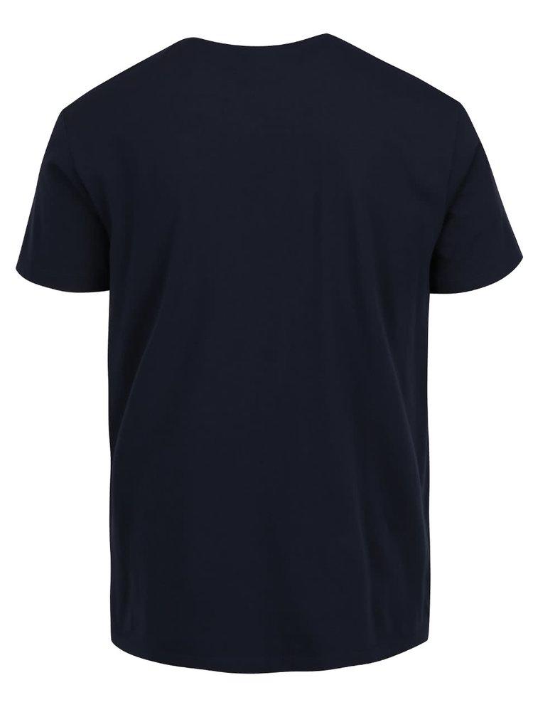 Tmavě modré pánské triko s modrým potiskem s.Oliver