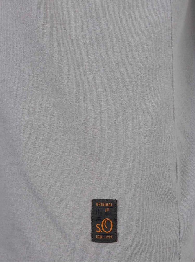 Šedé pánské triko s krátkým rukávem s.Oliver