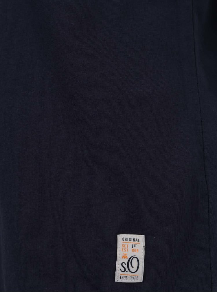 Tricou albastru închis s.Oliver din bumbac