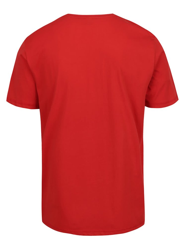 Tricou roșu s.Oliver din bumbac cu print