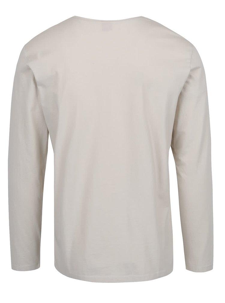 Bluza crem s.Oliver din bumbac cu print