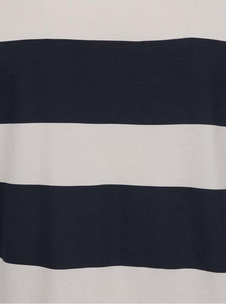 Krémové pánské pruhované triko s.Oliver