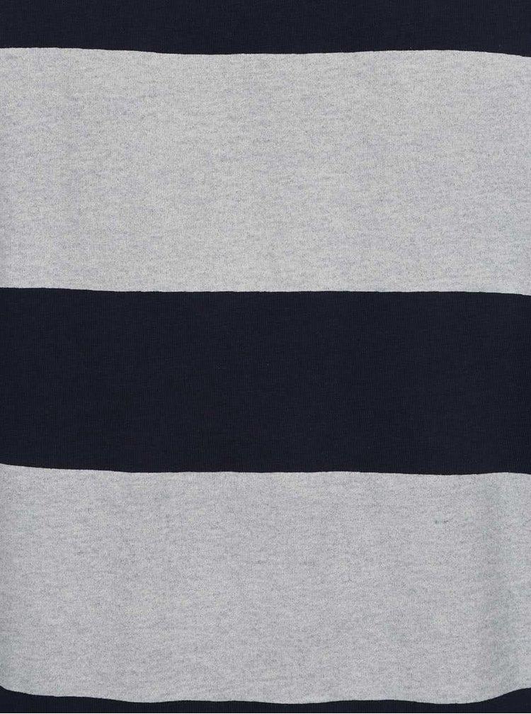 Modré pánské pruhované triko s.Oliver