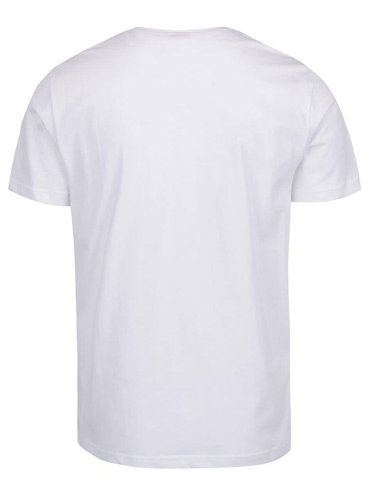 Bílé pánské triko s potiskem s.Oliver