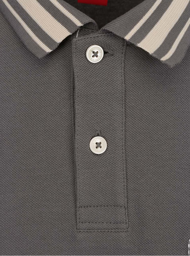 Šedé pánské polo triko s.Oliver