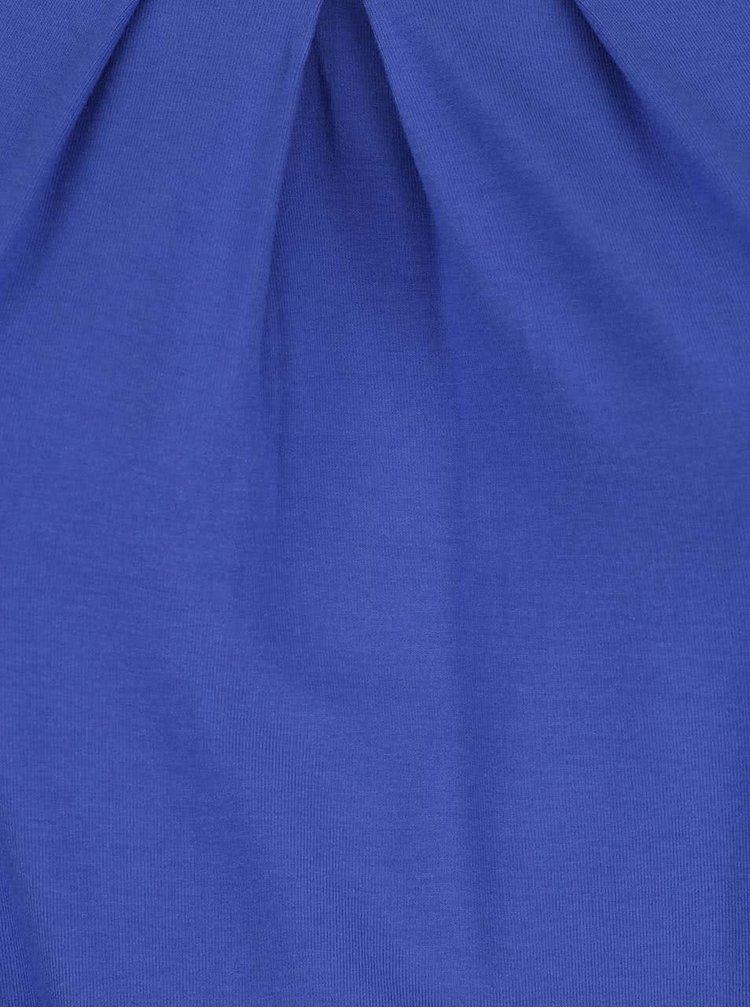 Tricou albastru Ulla Popken cu tiv elastic