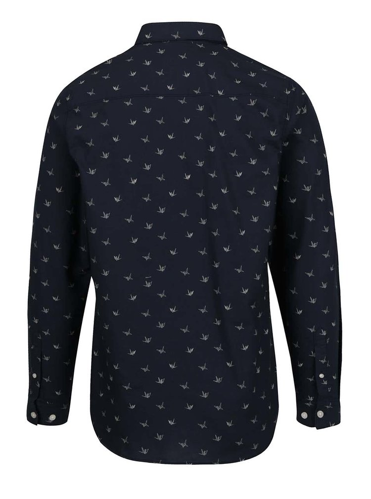 Tmavě modrá košile se vzorem v podobě origami Jack & Jones Choppy
