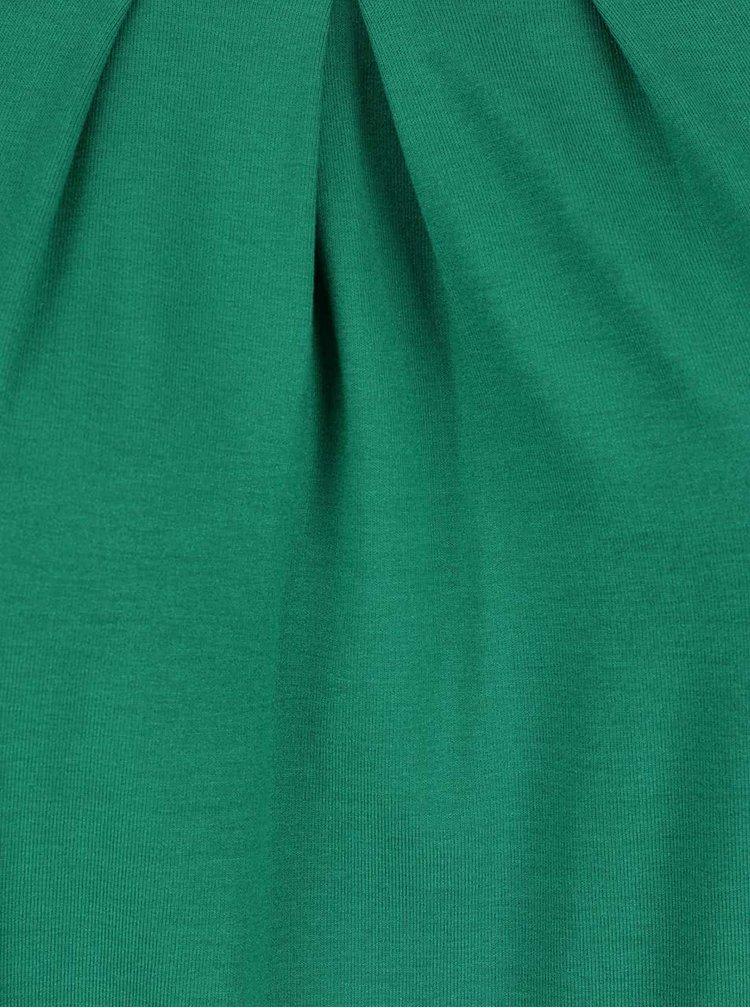 Tricou verde Ulla Popken cu tiv elastic