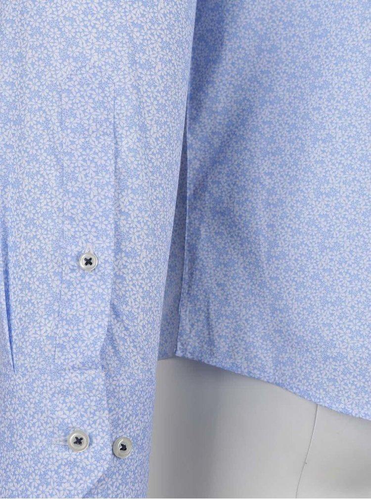 Cămașă albastră Jack & Jones Occasion cu imprimeu