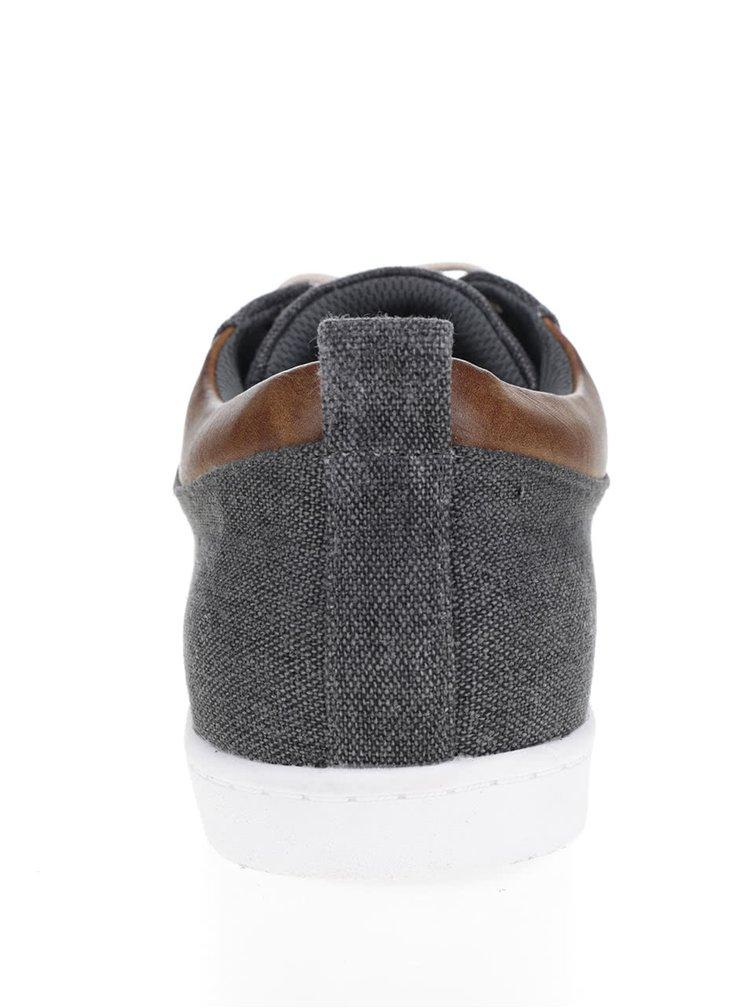 Pantofi sport gri inchis Bullboxer din denim