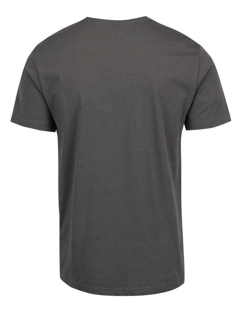 Tricou gri s.Oliver din bumbac cu print
