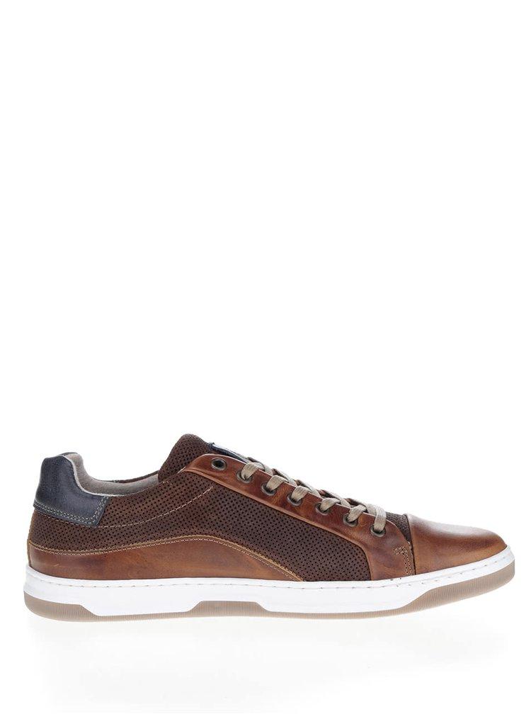 Pantofi sport maro inchis Bullboxer din piele