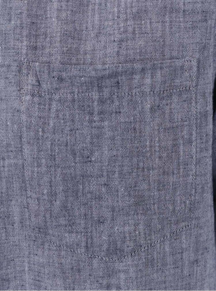 Tmavě modrá košile s krátkým rukávem Jack & Jones Bech