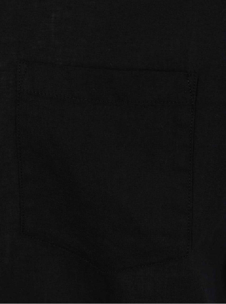 Černá košile s krátkým rukávem Jack & Jones Bech