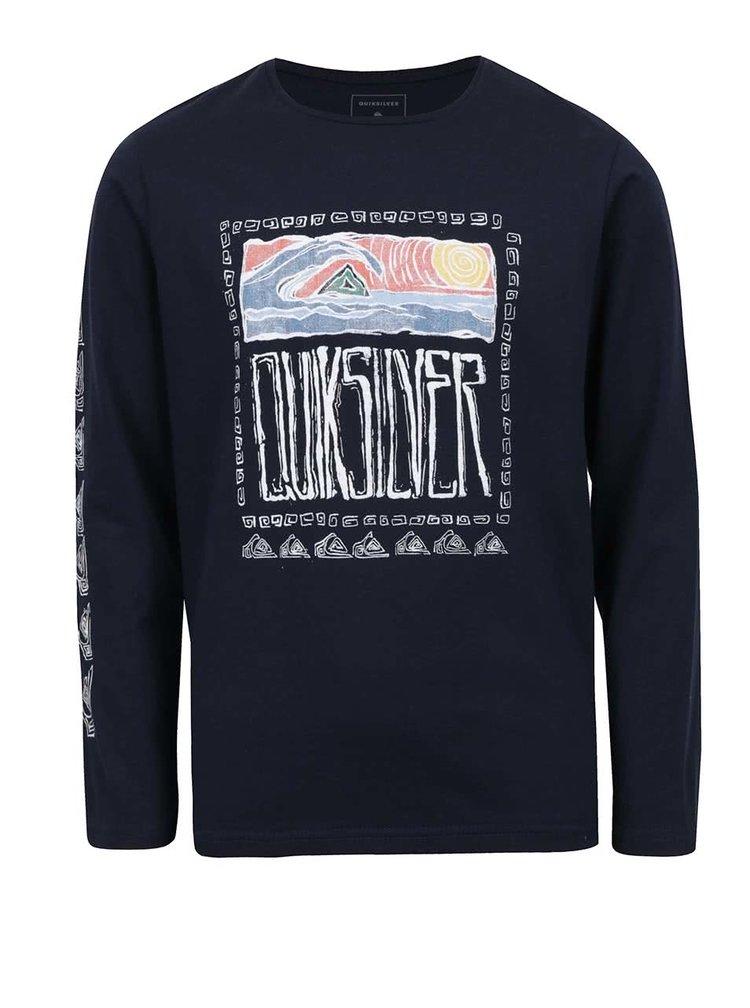 Bluză bleumarin Quiksilver cu print