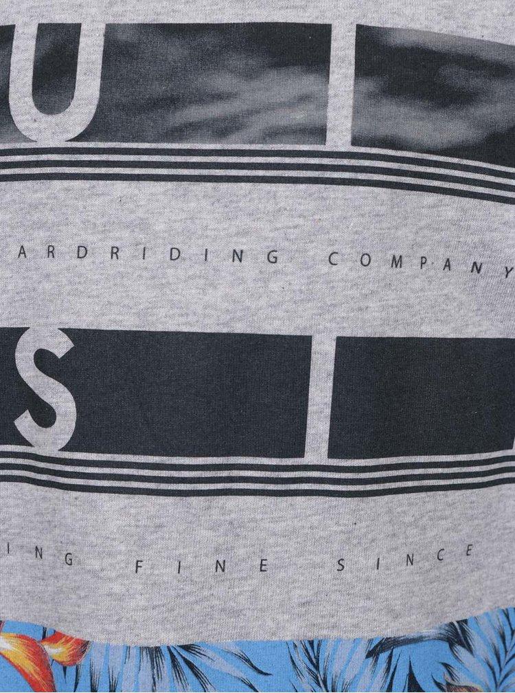 Tricou gri Quiksilver cu print