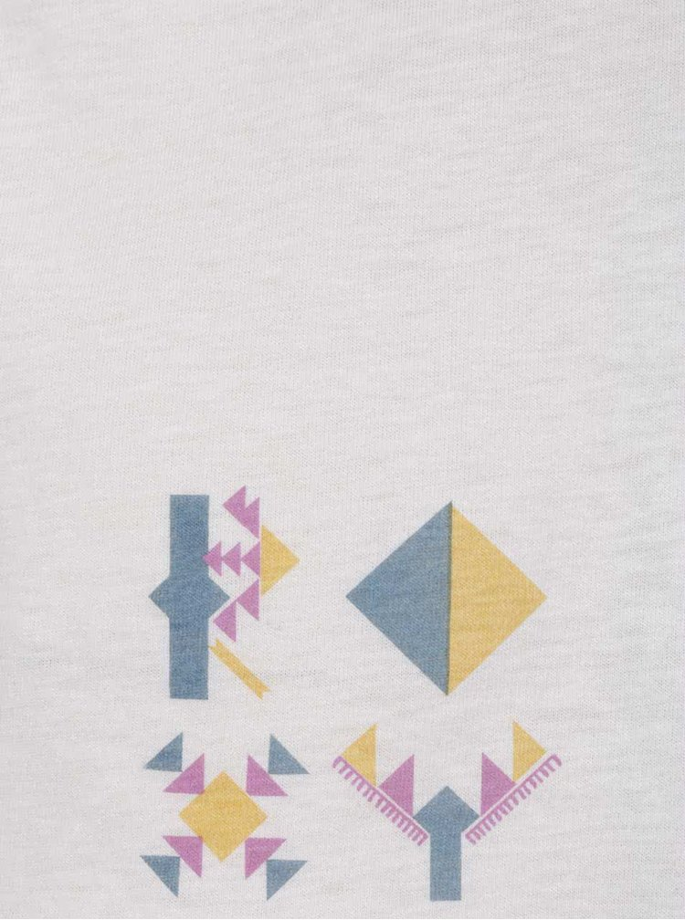 Krémové volné tričko Roxy Guerrero