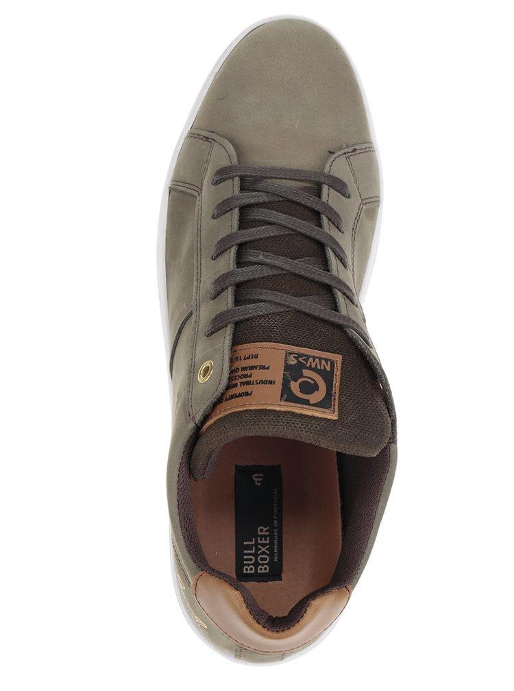 Pantofi sport kaki Bullboxer din piele întoarsă