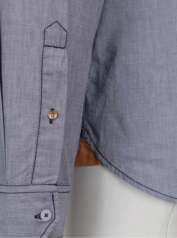 Tmavě modrá pánská košile s kapsou s.Oliver