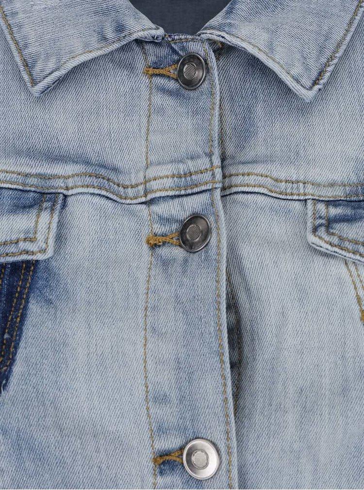 Jachetă de blugi Ulla Popken cu aspect deteriorat