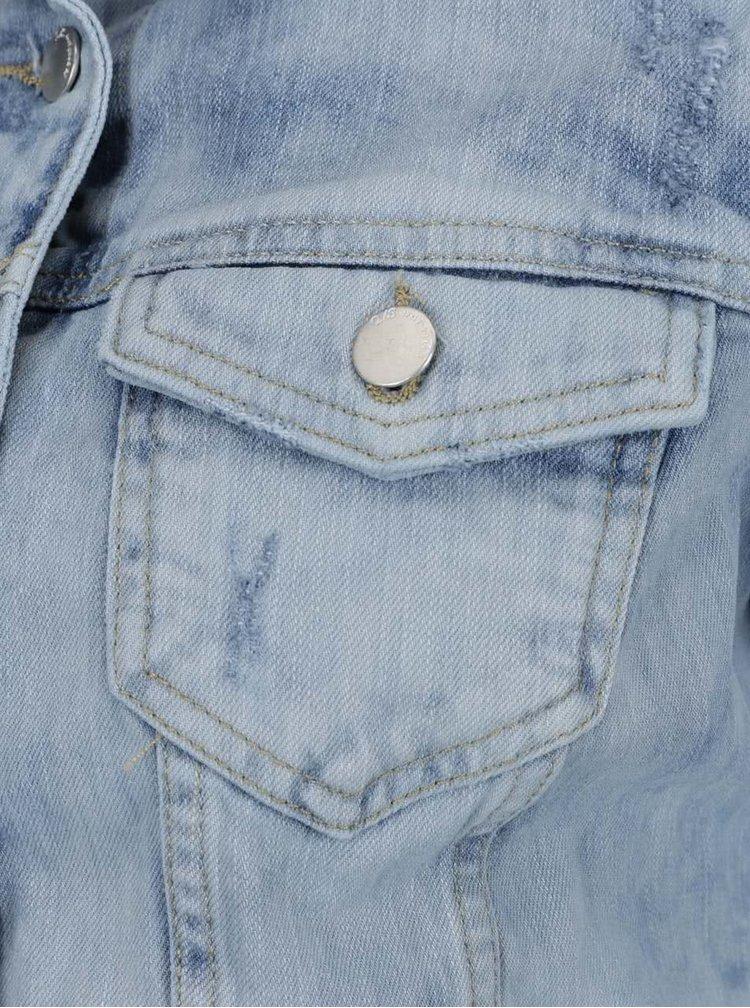 Světle modrá dámská džínová bunda s detaily QS  by s. Oliver