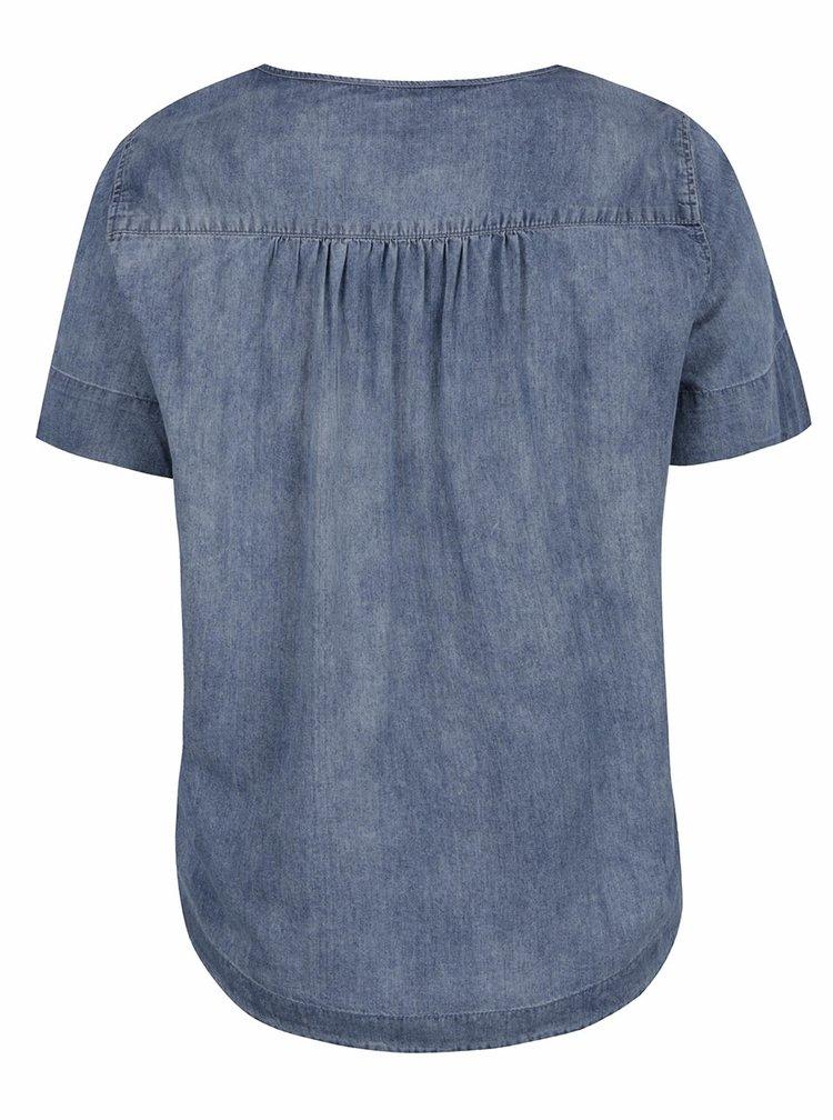 Tricou albastru Ulla Popkendin denim subtire