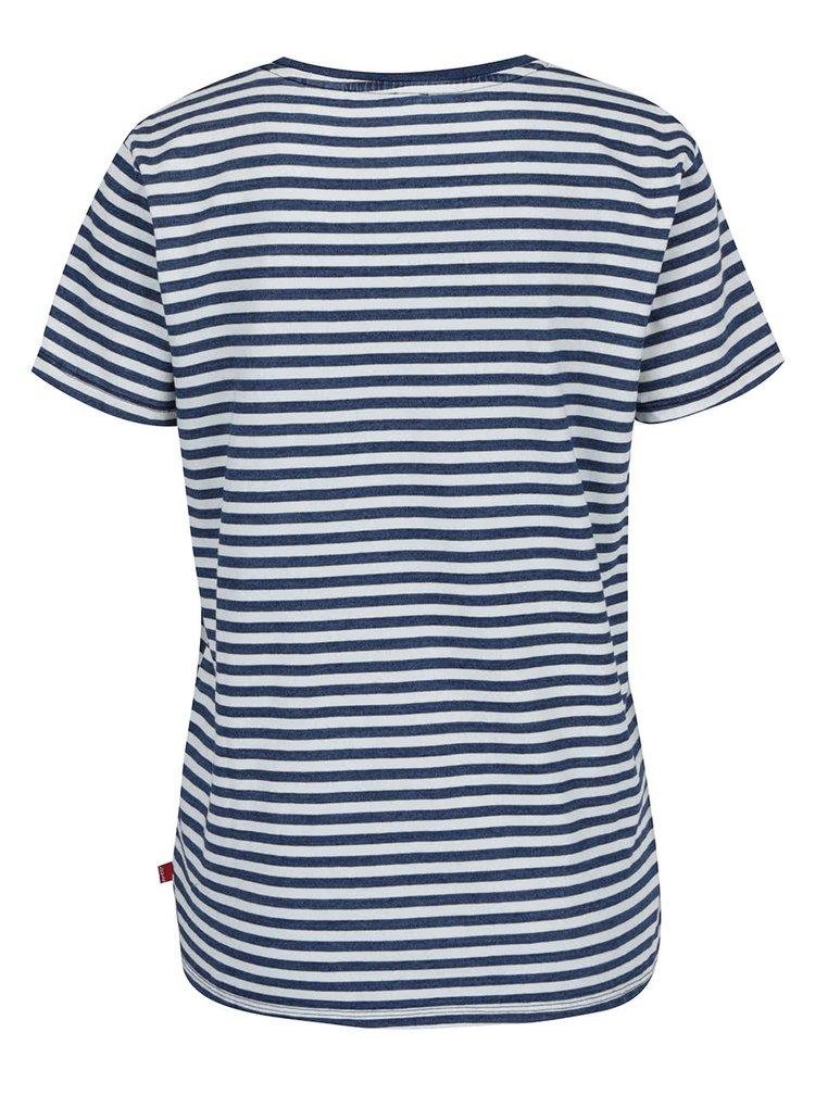 Tricou alb&albastru Levi's® cu dungi