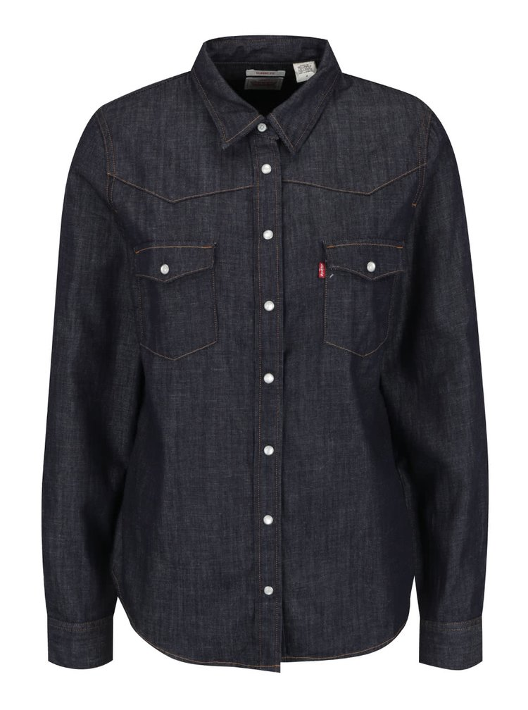 Tmavě modrá dámská džínová košile s dlouhým rukávem Levi's®