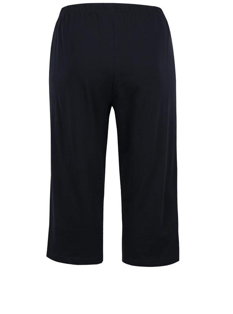 Pantaloni trei sferturi bleumarin Ulla Popken din bumbac