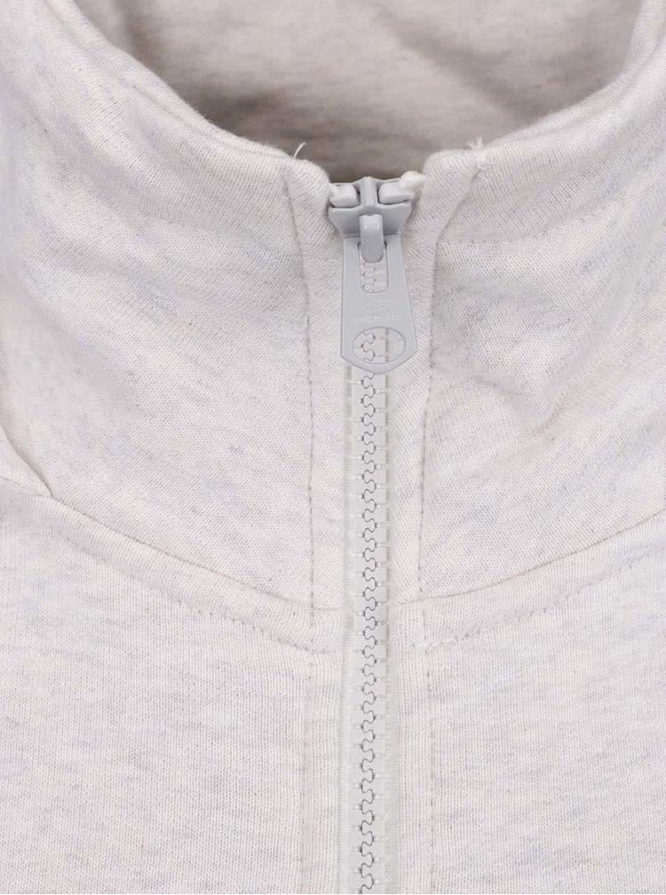 Krémová žíhaná dámská mikina na zip s kapucí QS  by s. Oliver