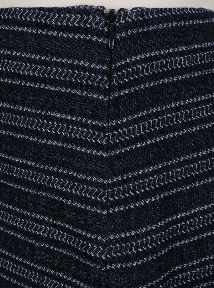 Tmavě modrá vzorovaná sukně QS  by s. Oliver