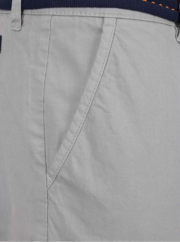 Šedé pánské chino kalhoty s páskem s.Oliver