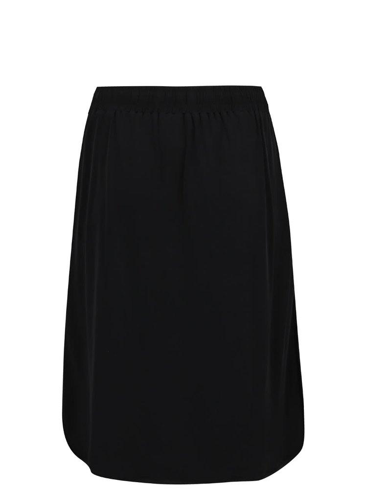 Černá sukně s krémovými pruhy na bocích Ulla Popken