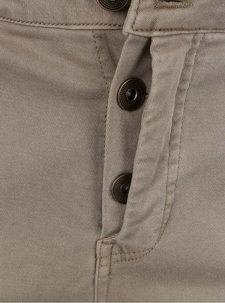 Béžové slim kalhoty Ulla Popken