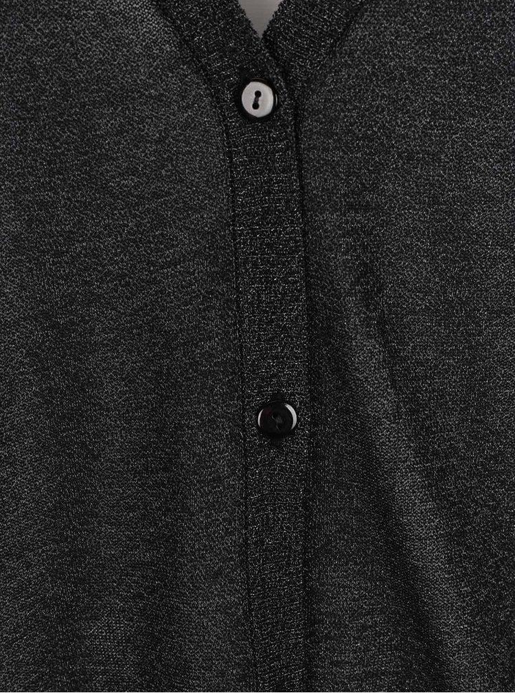 Tmavě šedý kadrigan s třpytivým efektem Ulla Popken