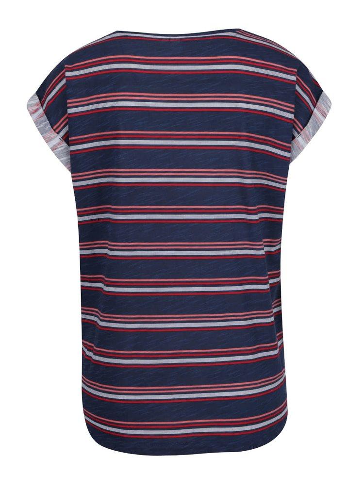 Tmavě modré dámské pruhované tričko QS  by s. Oliver