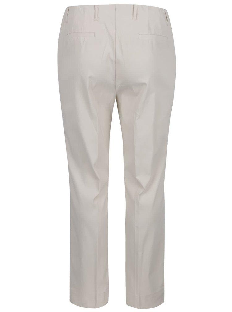 Krémové rovné kalhoty na zip Ulla Popken