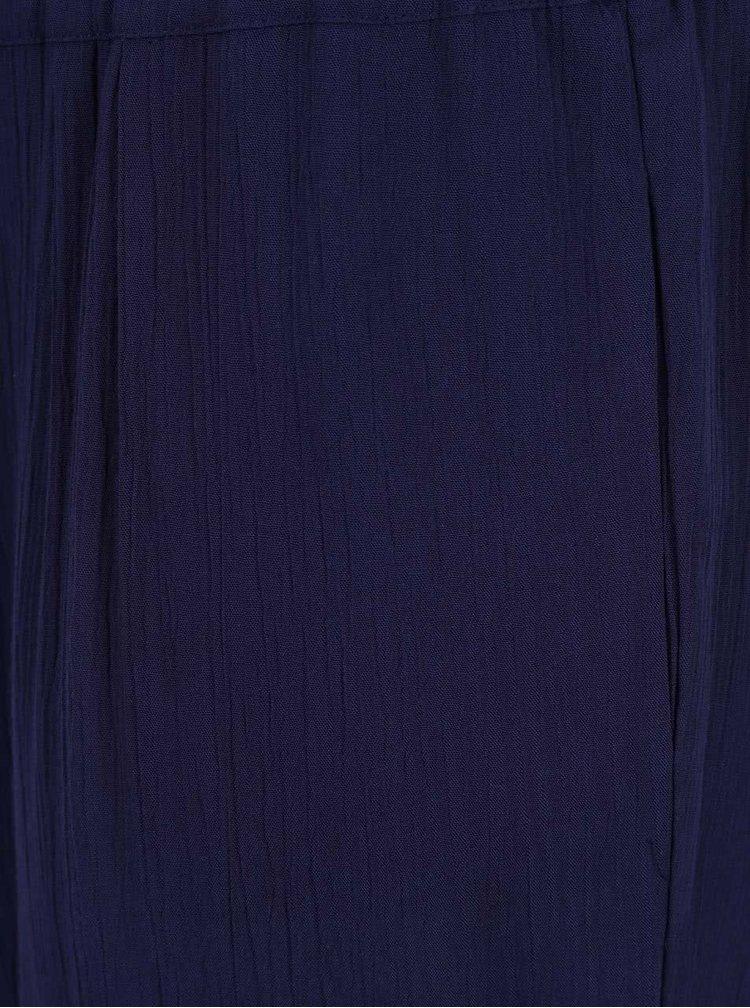 Pantaloni bleumarin Ulla Popken cu talie elastica