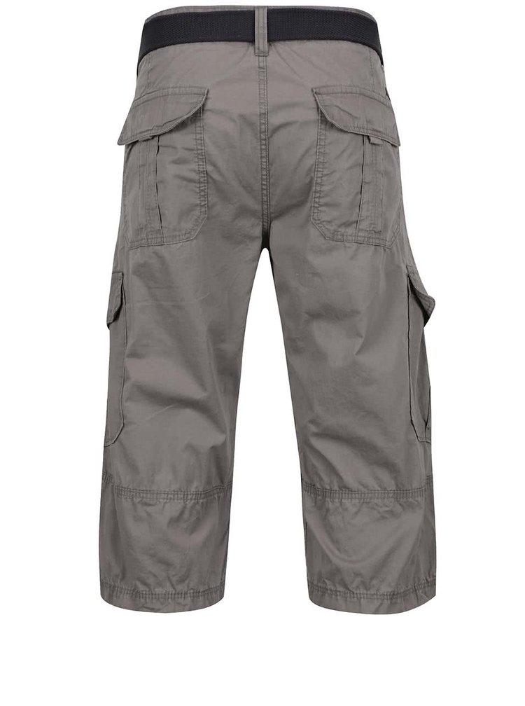 Pantaloni cargo gri deschis s.Oliver din bumbac cu curea neagra