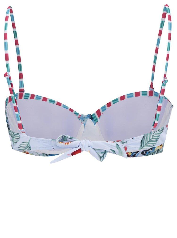 Světle modrý horní díl plavek s tropickým potiskem Dorothy Perkins