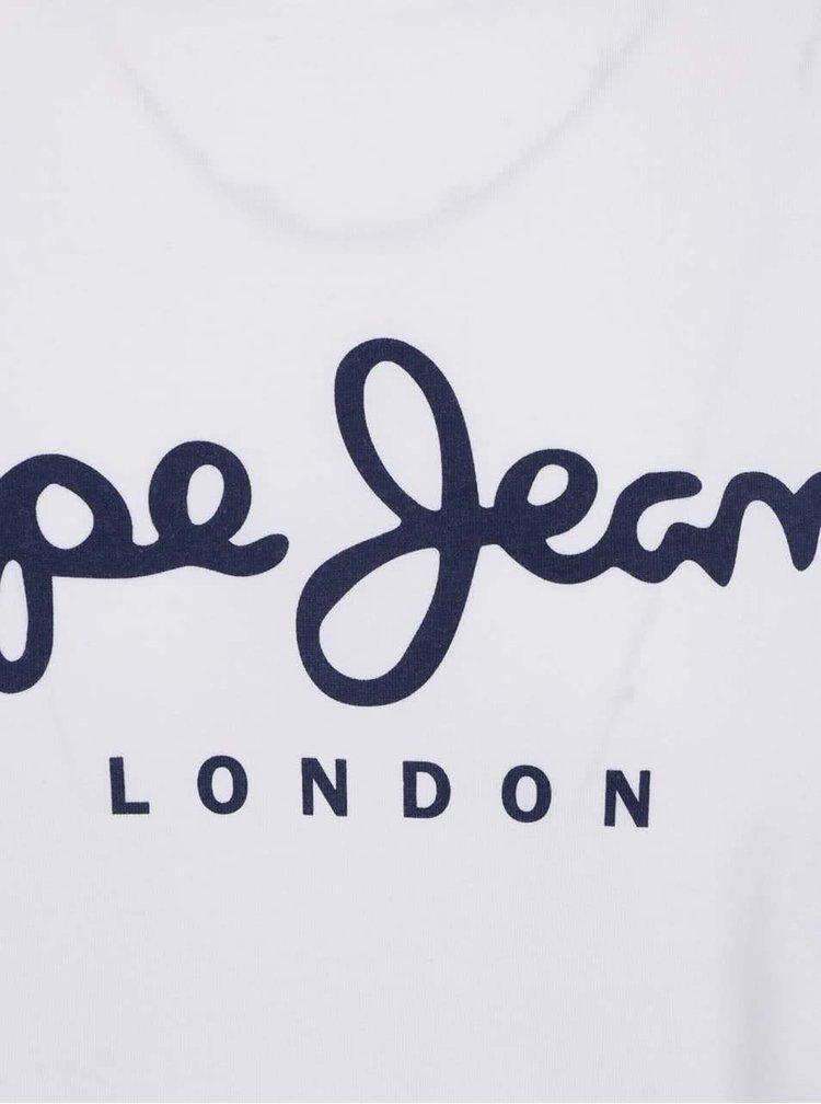Tricou alb Pepe Jeans Original cu print