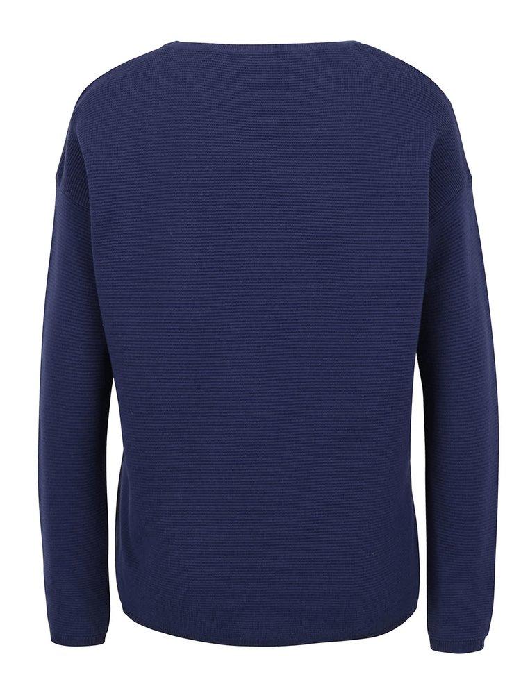 Bluza albastru inchis Rich & Royal din jerseu